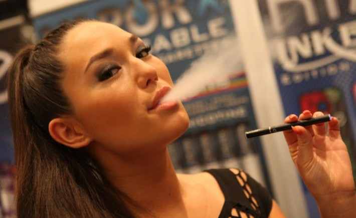 Electronic Cigarettes Smoking Girl