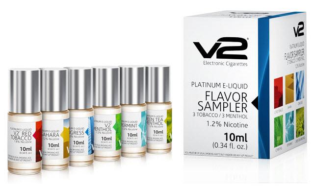V2 Cigs E-liquid Flavor Samples