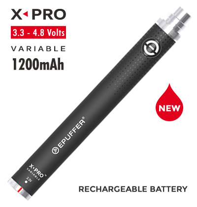 EPUFFER X-PRO VARIABLE MOD Long Lasting Battery - BLACK